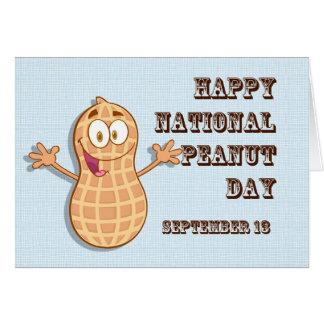 Tarjeta Cacahuete día 13 de septiembre nacional feliz
