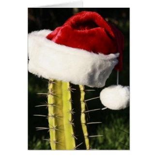 Tarjeta Cactus de las Felices Navidad