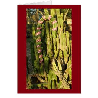 Tarjeta Cactus del bastón de caramelo