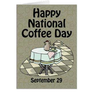 Tarjeta Café día 29 de septiembre nacional