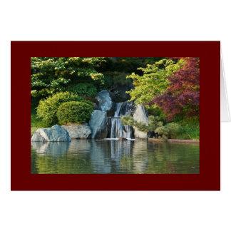 Tarjeta Caída del agua del jardín botánico de Missouri