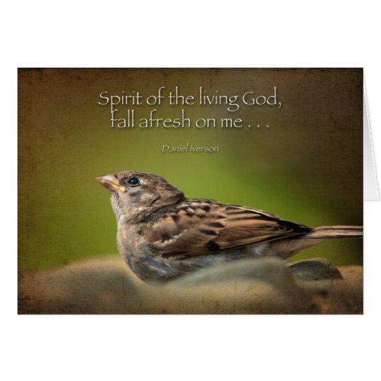 Tarjeta Caída del Espíritu Santo de nuevo en mí