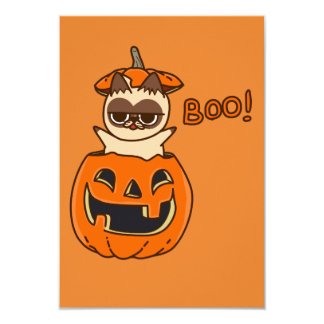 Tarjeta Calabaza Cat Boo