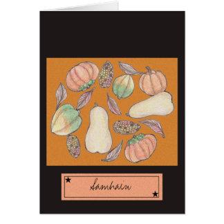 Tarjeta Calabaza generosidad Samhain naranja del 31 de