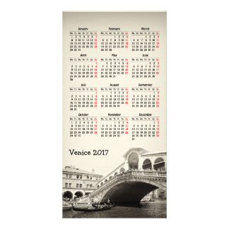 Tarjeta Calendario Photocard de Venecia, Italia 2018