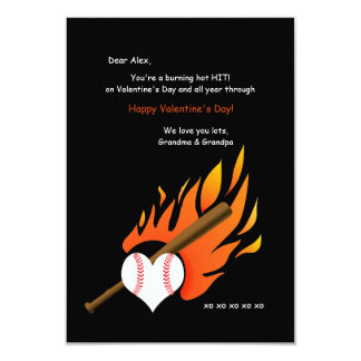Tarjeta caliente ardiente de la tarjeta del día de invitación 8,9 x 12,7 cm