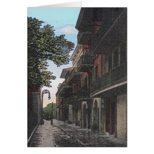 Tarjeta Callejón viejo en barrio francés