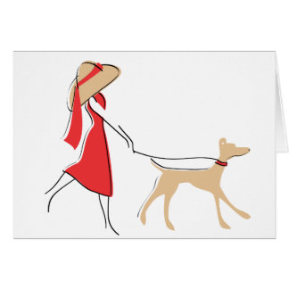 Tarjeta Caminante elegante del perro