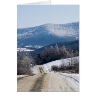 Tarjeta Caminos nevados