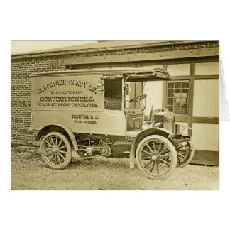 Tarjeta Camión antiguo Notecard del Co del caramelo de
