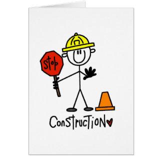 Tarjeta Camisetas y regalos básicos de la construcción