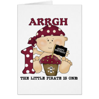 Tarjeta Camisetas y regalos del cumpleaños del pirata del