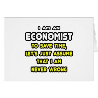 Tarjeta Camisetas y regalos divertidos del economista
