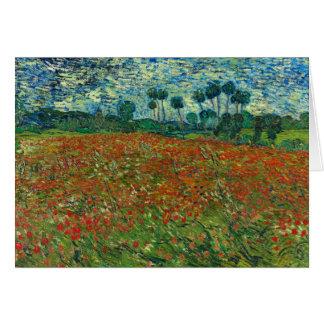 Tarjeta Campo de la amapola de Van Gogh