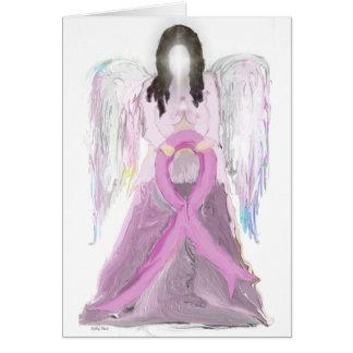 Tarjeta Cáncer de pecho del ángel