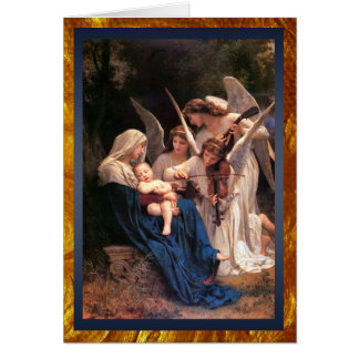 Tarjeta Canción del navidad de los ángeles