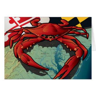 Tarjeta Cangrejo del ciudadano de Maryland