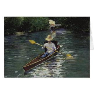 Tarjeta Canoa en el río de Yerres - Gustave Caillebotte
