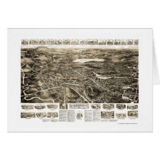 Tarjeta Cantón, mapa panorámico del mA - 1918
