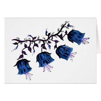 Tarjeta Cantorbery Belces azul en las flores de la vid