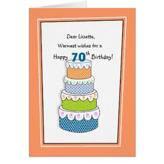 Tarjeta Capas de deseos 70.os o de cualquier cumpleaños de