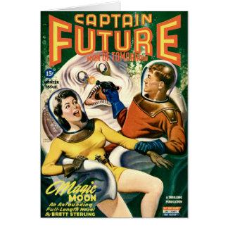 Tarjeta Capitán Future y la luna mágica