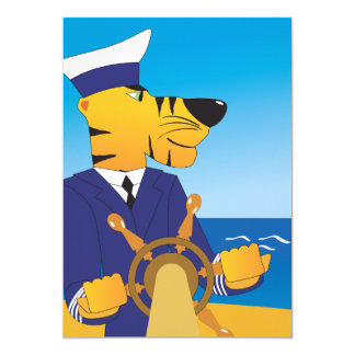 Tarjeta Capitán Invitations del tigre