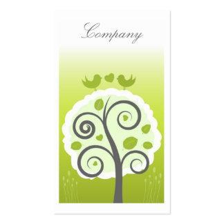 Tarjeta caprichosa del perfil del jardín tarjeta de visita