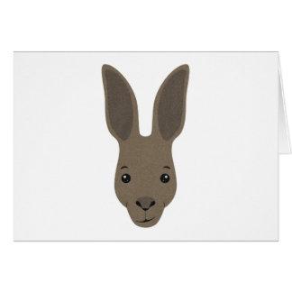 Tarjeta Cara del canguro