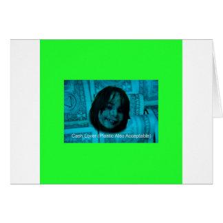 Tarjeta Cara del dinero del amante del efectivo (plástico
