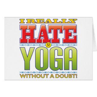 Tarjeta Cara del odio de la yoga