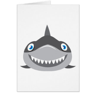 Tarjeta cara feliz linda del tiburón