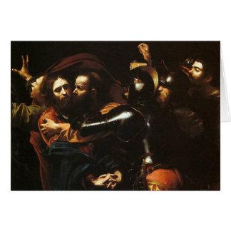 Tarjeta Caravaggio - el tomar de Cristo - ilustraciones