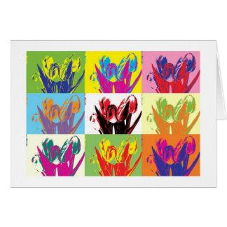 Tarjeta Card colorful tulips