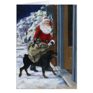 Tarjeta Carl que ayuda a Papá Noel de <Carl's Christmas> b