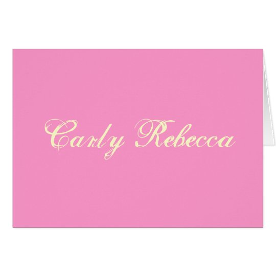 Tarjeta Carly Rebecca le agradece cardar