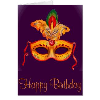 Tarjeta Carnaval de la máscara de la mascarada de la