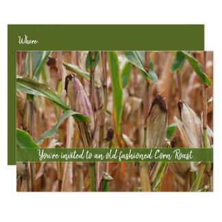 Tarjeta Carne asada del maíz, campo de los Corncobs del