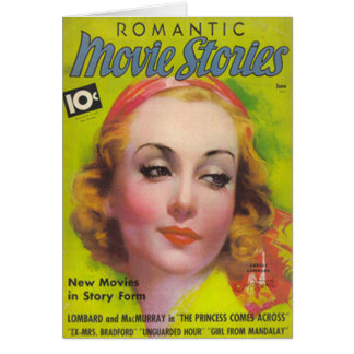 Tarjeta Carole Lombard en la cubierta de las historias