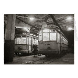Tarjeta Carretillas en el terminal, 1943