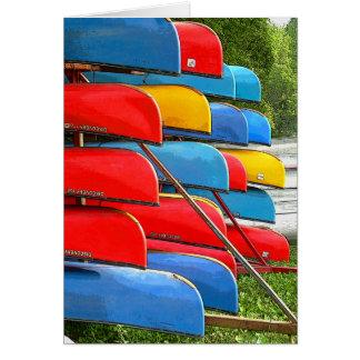 Tarjeta Carro de la canoa