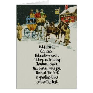 Tarjeta Carro del día de fiesta del navidad del Victorian