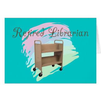 Tarjeta CARRO VACÍO jubilado del bibliotecario