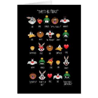 Tarjeta Carta LOONEY de TUNES™ Emoji