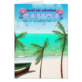 """Tarjeta Cartel del viaje de la aventura de Samoa """"viaje"""