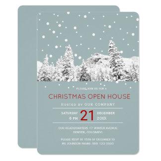 Tarjeta Casa abierta del invierno del navidad moderno del