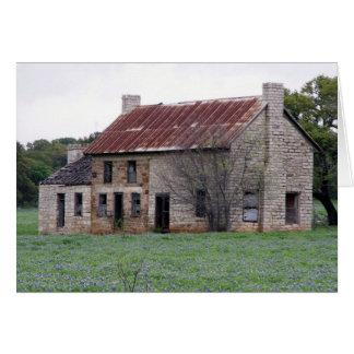 Tarjeta Casa de piedra vieja