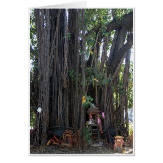 Tarjeta Casa del alcohol y árbol de Bodhi
