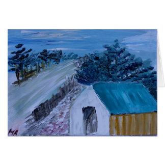 Tarjeta Casa en la colina