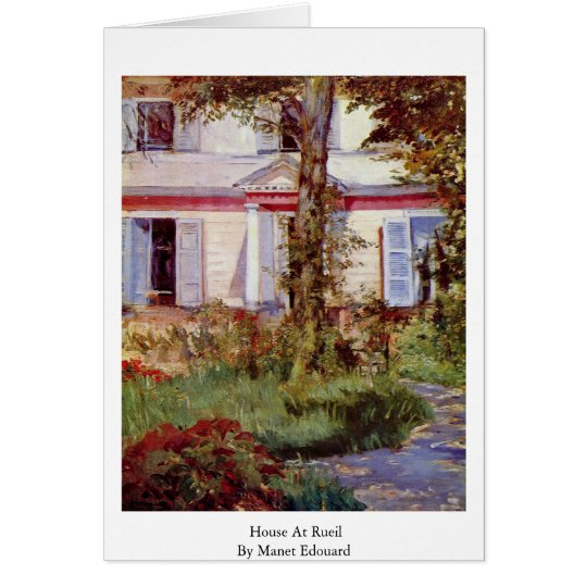 Tarjeta Casa en Rueil de Manet Eduardo